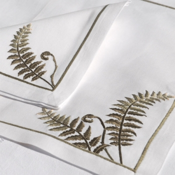 Set of Two Fern Placemats and Napkins