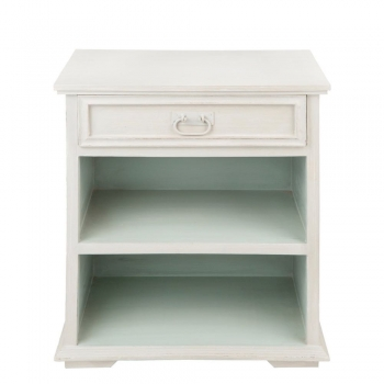 French Cream Open Bedside Table