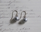 Grey Teardrop Pearl Earrings