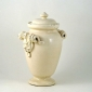 Italian Crackle Glaze Urn With Lid