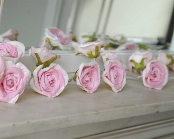 Pale Pink Rose Garland Fairy Lights
