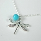 Silver And Turquoise Dragonfly Bracelet