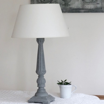 Tall French Table Lamp & Shade